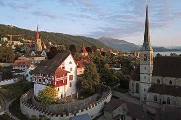 Aerial of Zug, Switzerland