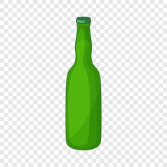 Green bottle icon. Cartoon illustration of green bottle vector icon for web design