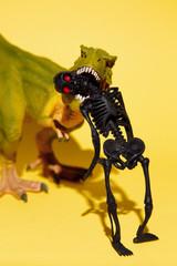 Black skeleton and dinosaur for Halloween