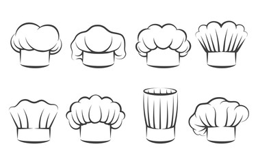 Cook chef hats icons