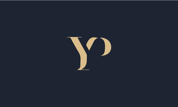 YP logo design template vector illustration