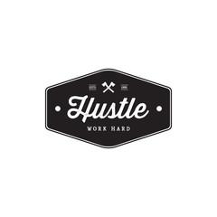 Badge Hustle Vintage Style Brand Badges - Vector
