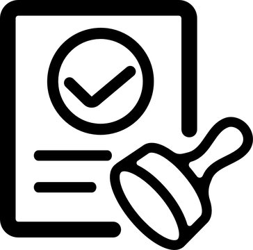 (SVG) approval / consent / qualified icon