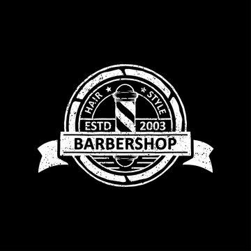 a vintage of barber shop badges, labels, emblems and logo design