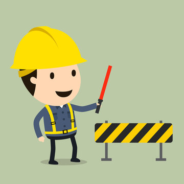 Safety personnel placement, Vector illustration, Safety and accident, Industrial safety cartoon