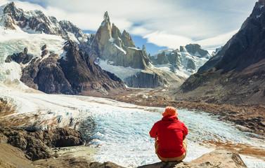 Hike in Patagonia Wall mural