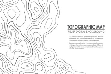 Topographic map contour background. Line map with elevation. Geographic World Topography map grid abstract illustration.