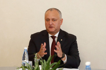 Igor Dodon, who was relieved of his duties as Moldovan President, chairs a session of the Supreme Security Council in Chisinau