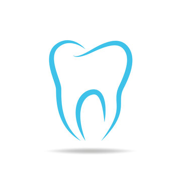 tooth wear brace on the blue background