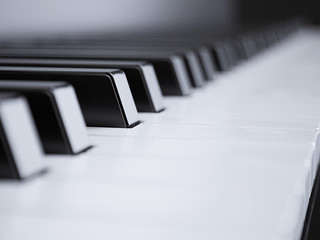 Piano keys perspective shallow field of view