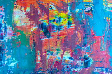 modern abstract background with many colors brush art blurred.