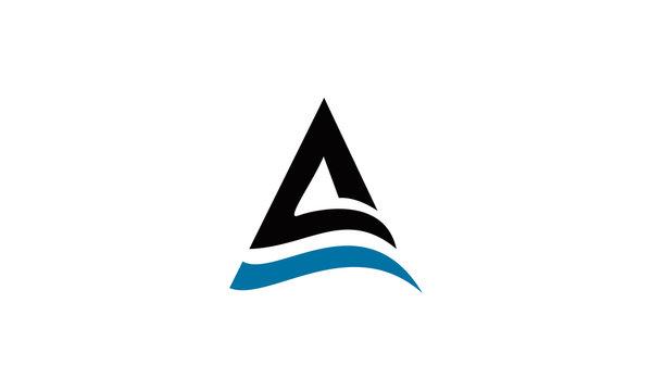 elegant A logo letter