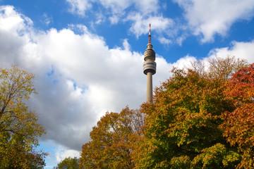 Fotobehang Seoel dortmund germany tv tower autumn architecture