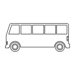 bus line flat icon. Vector illustration
