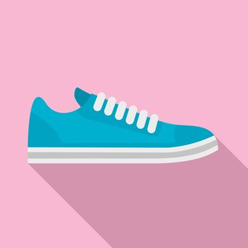 Bike shoes icon. Flat illustration of bike shoes vector icon for web design