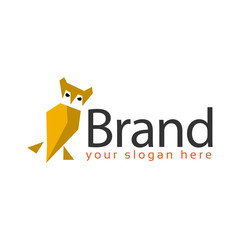 Owl logo stock. logo vector illustration