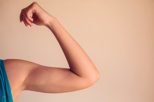 Woman's arm isolated. People, healthcare and medicine concept