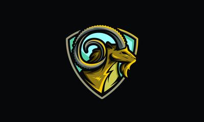 ibex emblem sport icon vector logo