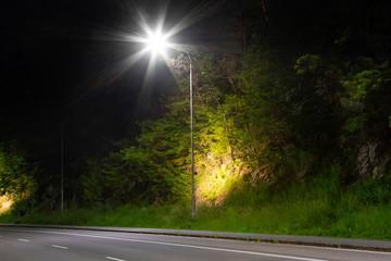 street light pole with modern LED system Fotomurales