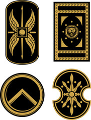 Medieval Warrior Shield Variation Set