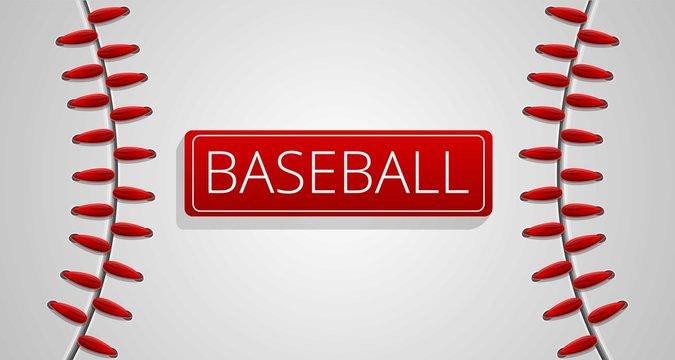 Baseball sport concept banner. Cartoon illustration of baseball sport vector concept banner for web design