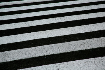zebra crosswalk on a asphalt road background