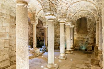 Interior of an underground old crypt