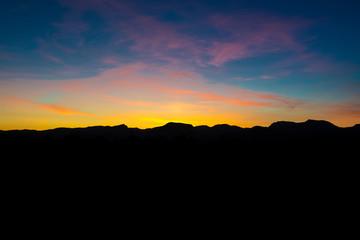 Sonnenuntergang / Sierra de Tramuntana / Mallorca