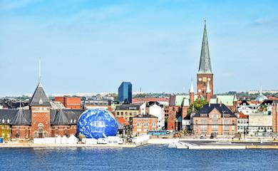 Cityscape of Aarhus in Denmark