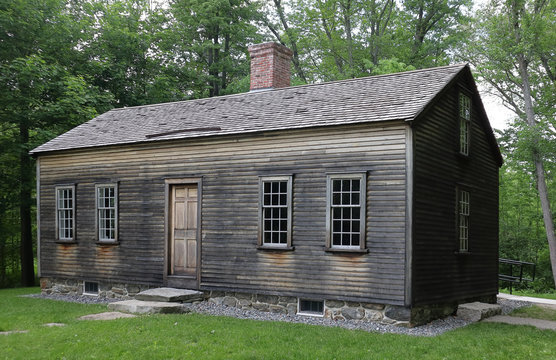 The Robbins House in Minute Man National Historical Park near Concord, Massachusetts - historical house where several early Concord African American families were able to support themselves