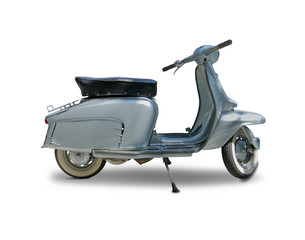 Fotorolgordijn Scooter Classic Italian scooter isolated on white
