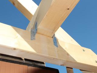 Detailfoto vom Dachstuhl