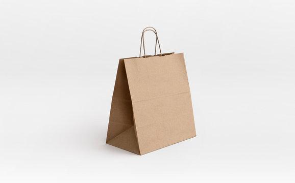 brown paper bag for take away
