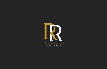 Elegant RR Letter Linked Monogram Logo Design