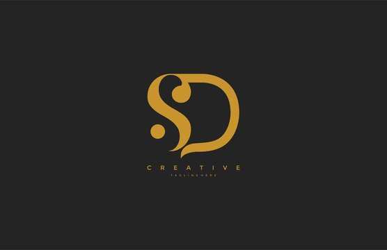 Elegant SDLetter Linked Monogram Logo Design