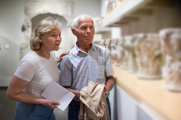 Couple of pensioners at museum