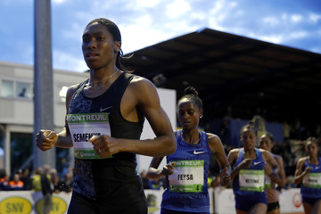 South African athlete Caster Semenya races for the first time after her ban in France