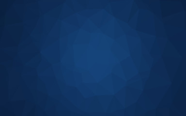 Dark BLUE vector polygon abstract layout.
