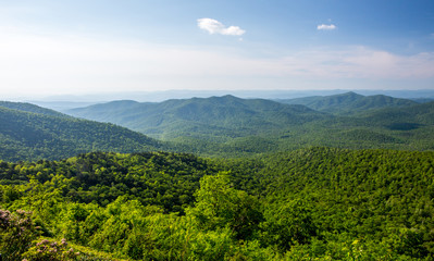 Blue Ridge Mountain Overlook in North Carolina