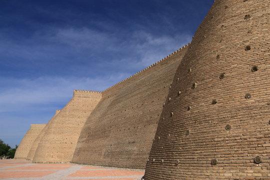 中央アジア シルクロードの旅 ウズベキスタン ブハラ アルク城城壁