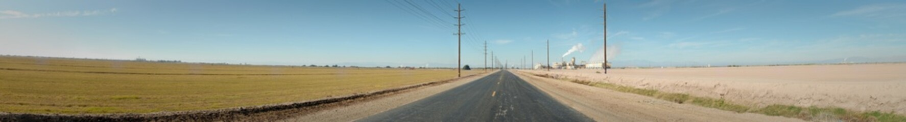 The open roads of Imperial County in California. Wall mural