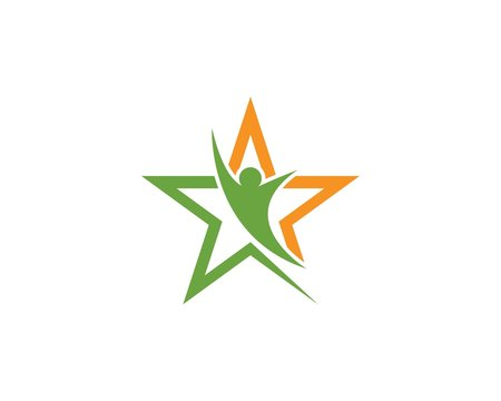 Star people logo and symbol vector