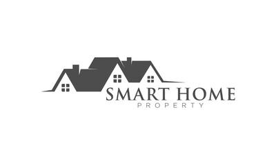 Smart home icon logo