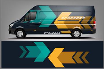 Fototapete - Van car Wrap design for company