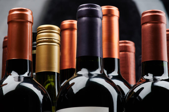 Different wine bottles