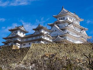 himeji castle is in japan a clear blue sky