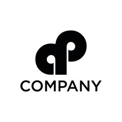 ap company logo black and white