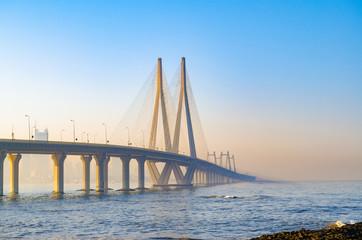beautiful sea link bridge of Mumbai