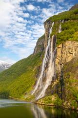 Wasserfälle am Geirangerfjord/Sieben Schwestern