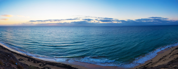 Panorama of the sea before the dawn